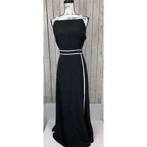 Women's Size 14 Black & White Long Dress